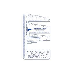measuring card